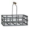 <strong>Rectangle Metal Slatted Caddy with Wood Grip Metal Handles</strong> by Cheungs