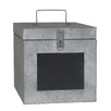 Cheungs Metal Storage Box with Lock and Chalkboard