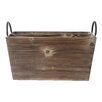 Cheungs Wooden 2 Slot Rectangle Caddy with Metal Side Handles