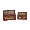 <strong>Cheungs</strong> Two Piece Rectangular Wooden Treasure Chest Set
