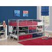 <strong>DHP</strong> Junior Twin Locker Loft Bed with Trundle