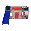 <strong>Fire Department Curtain Set for Junior Loft Bed</strong> by DHP