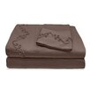 Veratex, Inc. 800 Thread Count Egyptian Cotton Sheet Set with Chenille Scroll