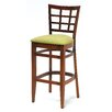"Melissa Window Back Wood Barstool (24"" - 31.5"" Seats)"