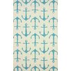 nuLOOM Air Libre White Ahoy Indoor/Outdoor Area Rug