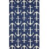 nuLOOM Layne Navy Ahoy Indoor/Outdoor Area Rug