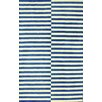 nuLOOM San Miguel Blue/Ivory Scully Area Rug