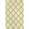 nuLOOM Marrakech Trellis Hand Hooked Lime Area Rug