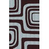 nuLOOM Pop Maze Chocolate Blue Rug