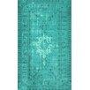 nuLOOM Remade Overdyed Turquoise Chroma Overdyed Style Rug