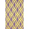 nuLOOM Nicolette Hand Hooked Cotton Purple Area Rug