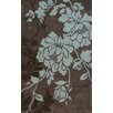 nuLOOM Cine Taylor Chocolate / Sky Blue Area Rug