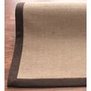 nuLOOM Natural Jute Cotton Brown Border Area Rug