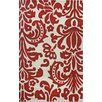 nuLOOM Cine Modern Damask Red Area Rug