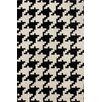 nuLOOM Magnifique Houndstooth Black & White Area Rug
