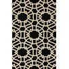 Marbella lattice Black Rug