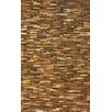 nuLOOM Hides Brown Patches Striped Area Rug