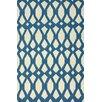 nuLOOM Flatweave Royal Blue Twizzle Area Rug