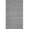 nuLOOM Brilliance Black Mini Chevon Rug