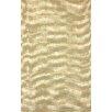 nuLOOM Natura Ivory/Gold Chervon Area Rug