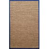 nuLOOM Natura Royal Herringbone Brown /Blue Area Rug