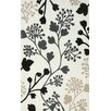 nuLOOM Cine Light Beige Fall Leaves Rug