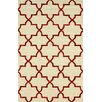 nuLOOM Goodwin White/Red Camila Area Rug