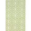 nuLOOM Flatweave Green Locking Squares Area Rug