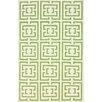nuLOOM Flatweave Green Locking Squares Rug
