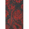 nuLOOM Goodwin Charcoal/Red Felicity Area Rug