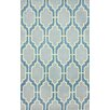 nuLOOM Zem Lush Diamonds Blue Area Rug