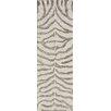 nuLOOM Madagascar Grey Plush Zebra Rug
