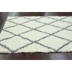 nuLOOM Shag Black & White Plush Area Rug