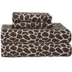 <strong>Heavy Weight Giraffe Flannel Sheet Set</strong> by Pointehaven