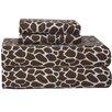 Pointehaven Heavy Weight Giraffe Flannel Sheet Set