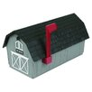 <strong>Barn Style Post Mounted Mailbox</strong> by Flambeau