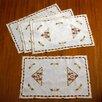 Violet Linen Orchid Vintage Design Place Mat (Set of 4)