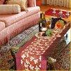 Violet Linen Seasonal Leaves Design Table Runner