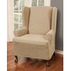 <strong>Reeves Stretch One Piece Wing Chair T-Cushion Slipcover</strong> by Maytex