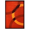Contempo Dark Orange/Yellow Rug