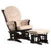 Dutailier Sleigh Glider with Rounded Cushion and Ottoman