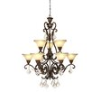 <strong>Artcraft Lighting</strong> Florence 9 Light Chandelier