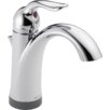 Delta Lahara Single Hole Bathroom Faucet with Single Handle and Diamond Seal Technology