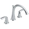 Lahara Double Handle Roman Tub Faucet Lever Handle