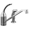 "<strong>Kohler</strong> Coralais Single-Control Kitchen Faucet with 10"" Spout, Color-Matched Sprayhead and Loop Handle, Less Escutcheon"