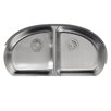 "Kohler Undertone 34-9/16"" X 18-1/2"" X 9-1/2"" Under-Mount Double-Equal Bowl Kitchen Sink"
