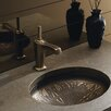 <strong>Lilies Lore Cast Bronze Undercounter Lavatory</strong> by Kohler