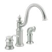 Moen Waterhill Single Handle Widespread Bar Faucet with Side Spray