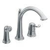 <strong>Moen</strong> Savvy One Handle Widespread High Arc Kitchen Faucet with Convenient Side Spray