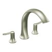 <strong>Fina Two Handle High Arc Roman Tub Faucet</strong> by Moen